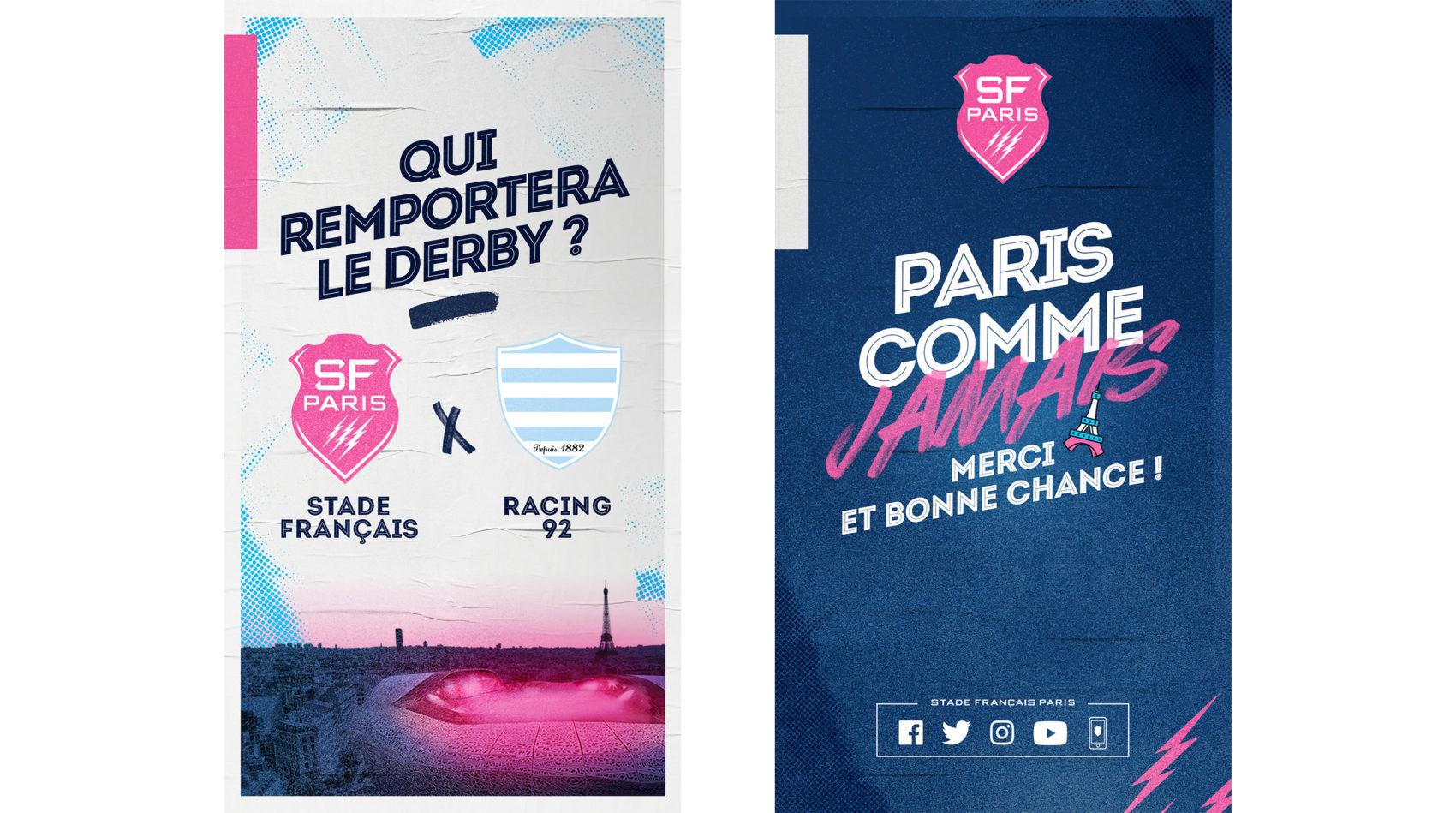 visuel_activation_projet_strategie_campagne_globale_paris_comme_jamais_derby_le_stade_francais_lafourmi