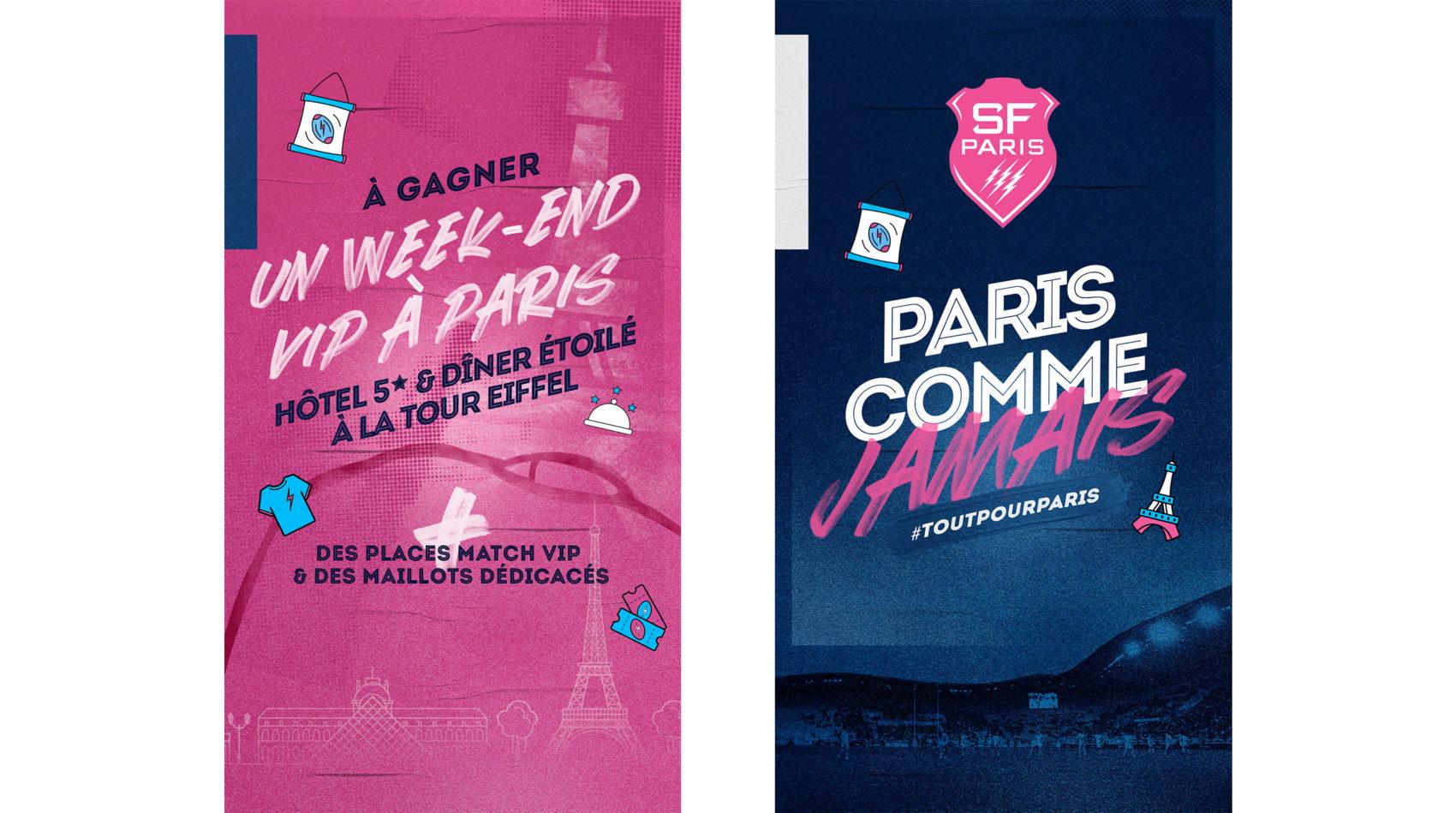 visuel_activation_projet_strategie_campagne_globale_paris_comme_jamais_week_end_paris_vip_le_stade_francais_lafourmi