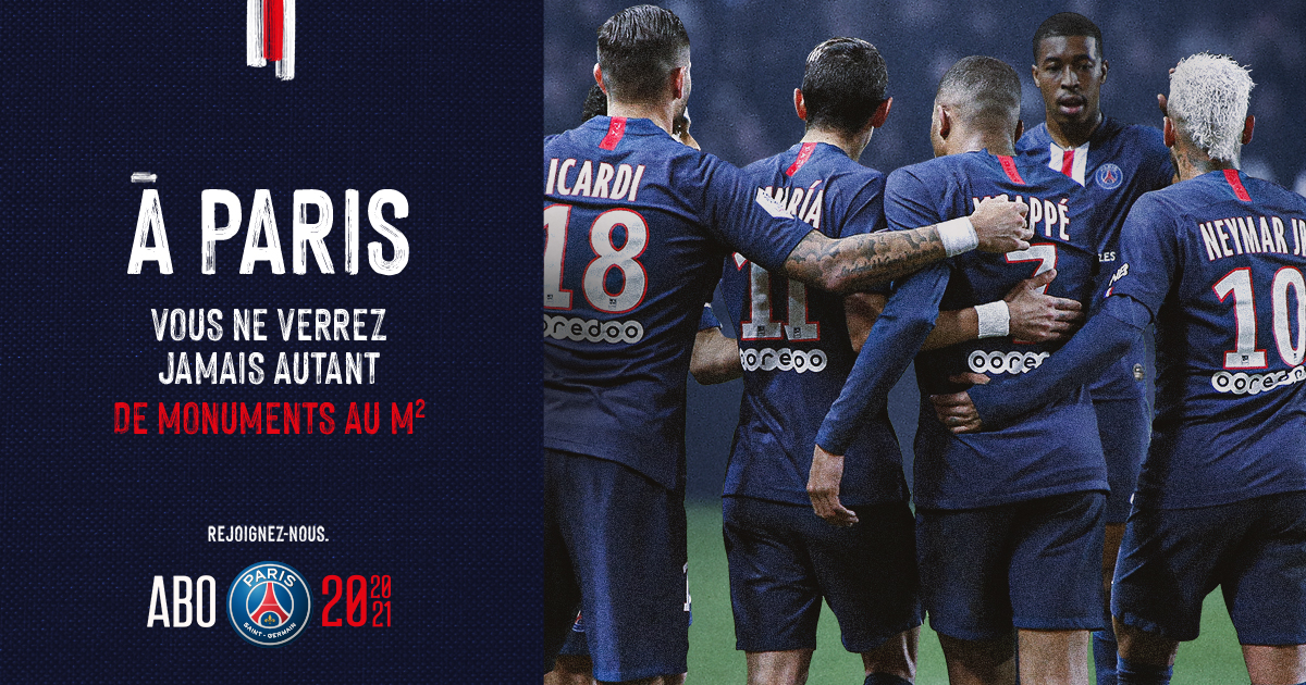 Visuel_groupe_joueurs_campagne_communication_marketing_abonnement_paris_saint_germain_football_psg_lafourmi