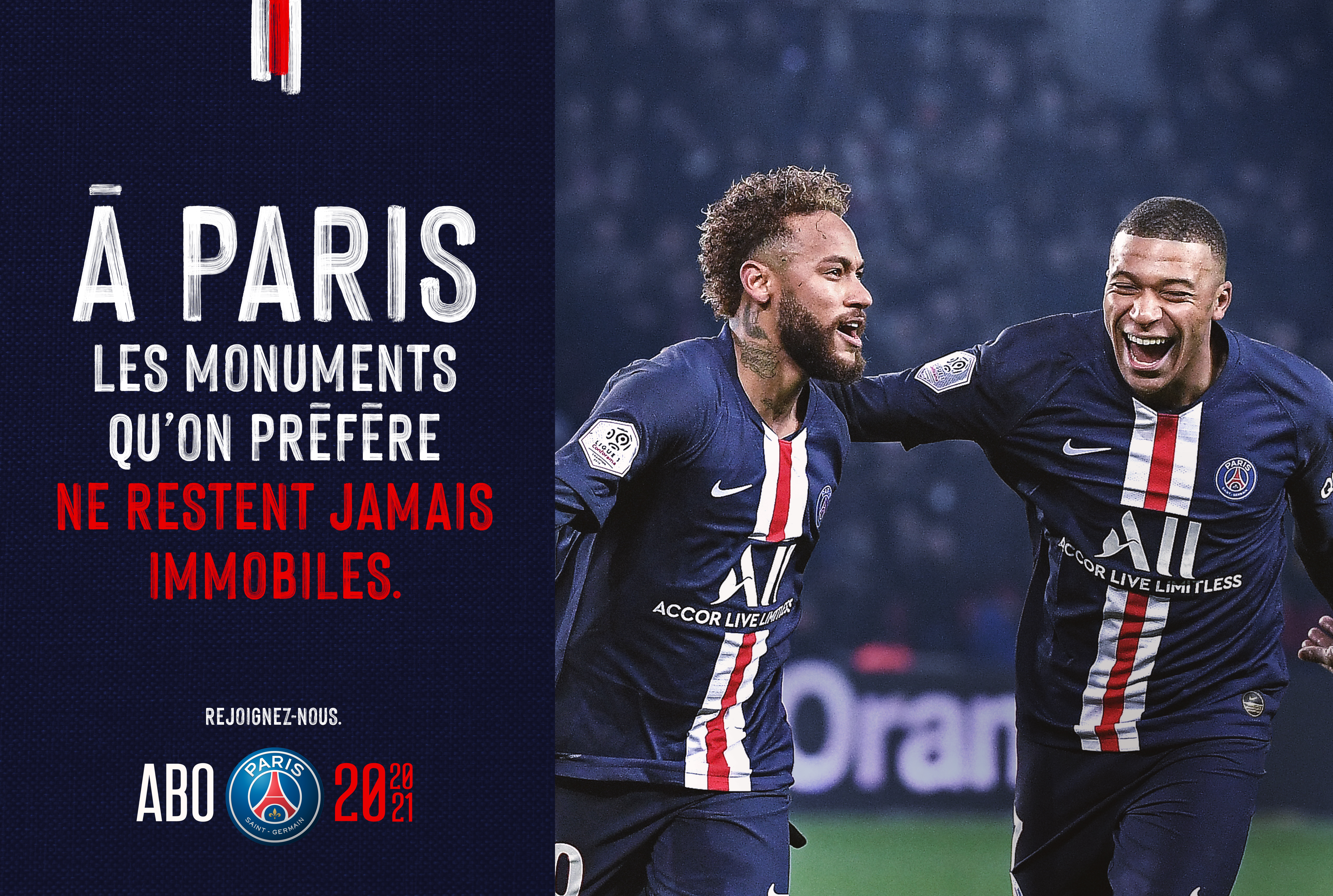 Visuel_neymar_mbappe_campagne_communication_marketing_abonnement_paris_saint_germain_football_psg_lafourmi